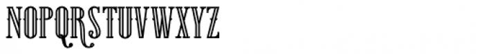 Gunhill Bold Outline Font UPPERCASE