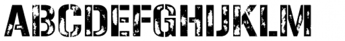 Gunplay Damage Font UPPERCASE