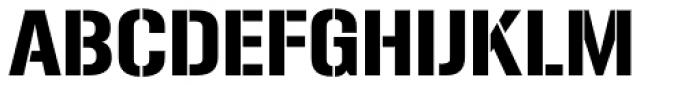 Gunplay Font UPPERCASE