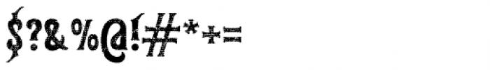 Gunshot Rough Font OTHER CHARS