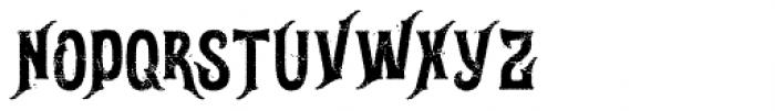 Gunshot Rough Font UPPERCASE