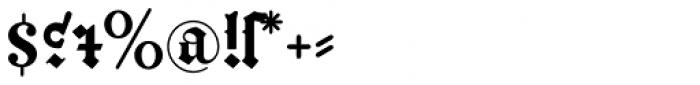 Gutenberg B Font OTHER CHARS