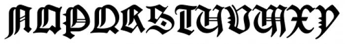 Gutenberg B Font UPPERCASE