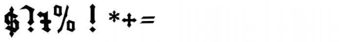 Gutenberg Textura Pro Font OTHER CHARS