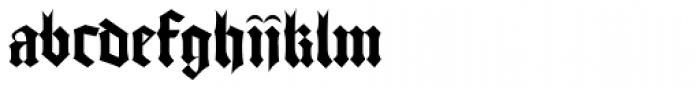 Gutenberg Textura Pro Font LOWERCASE