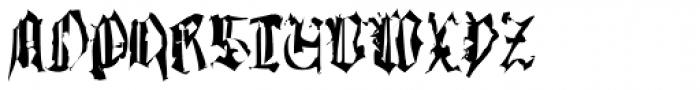 Gutenbergs Traces EF Regular Dfr Font UPPERCASE