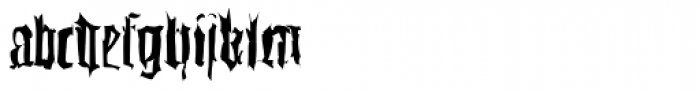 Gutenbergs Traces EF Regular Dfr Font LOWERCASE