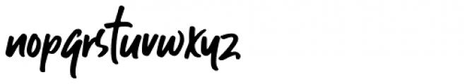 Guthen Bloots Regular Font LOWERCASE