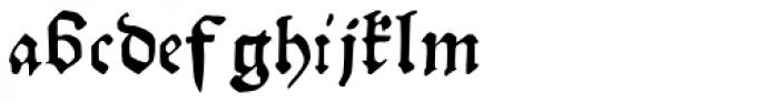 Gutknecht Font LOWERCASE