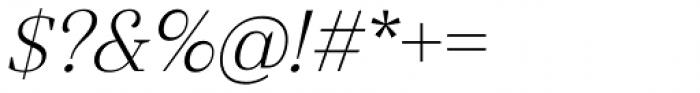 Gwyner Light Italic Font OTHER CHARS
