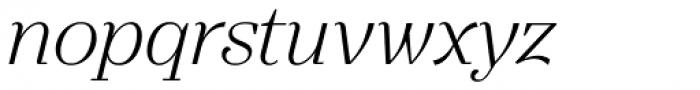 Gwyner Light Italic Font LOWERCASE