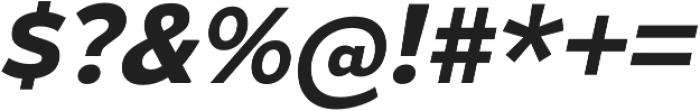 Gymkhana Bold Italic otf (700) Font OTHER CHARS