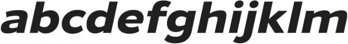 Gymkhana Bold Italic otf (700) Font LOWERCASE
