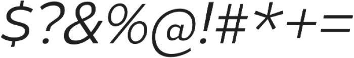 Gymkhana Light Italic otf (300) Font OTHER CHARS