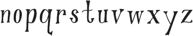 Gypsy Potion Regular otf (400) Font LOWERCASE