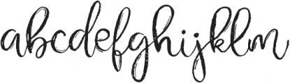 Gypsy Soul Brush Script otf (400) Font LOWERCASE