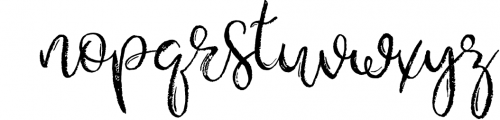 Gypsy Soul.Textured Brush Font+bonus Font LOWERCASE
