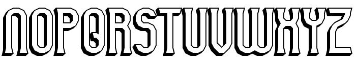 Gyneric 3D BRK Font UPPERCASE