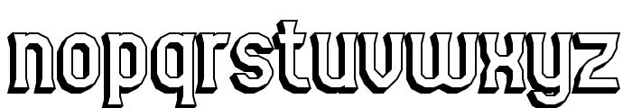 Gyneric 3D BRK Font LOWERCASE