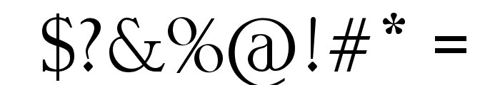 Gypsy Brush Font OTHER CHARS