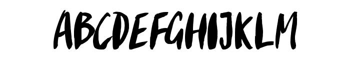 Gypsy Brush Font UPPERCASE
