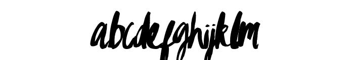 Gypsy Brush Font LOWERCASE