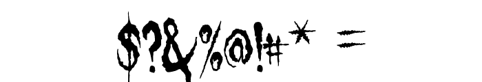 Gypsy Curse Font OTHER CHARS