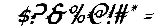 Gypsy Road Condensed Italic Font OTHER CHARS