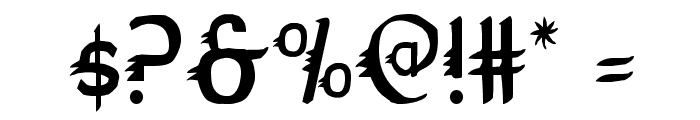 Gypsy Road Condensed Font OTHER CHARS