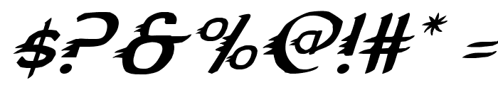 Gypsy Road Italic Font OTHER CHARS
