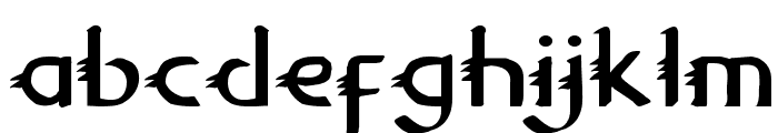 Gypsy Road Font LOWERCASE