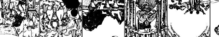 Gypsy Tarot-Minor Arcana Inverted Font LOWERCASE
