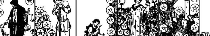 Gypsy Tarot-Minor Arcana Font LOWERCASE