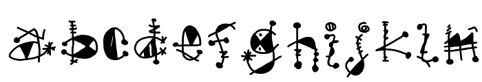 gypsy Font LOWERCASE