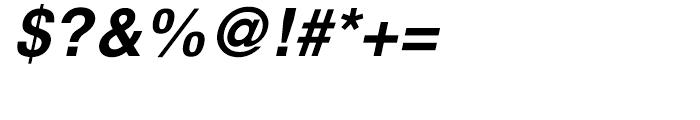 H Central Bold Oblique Font OTHER CHARS