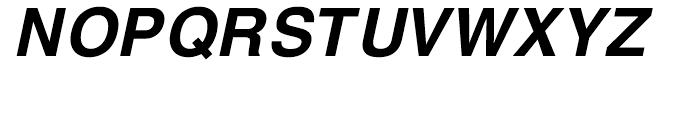 H Central Bold Oblique Font UPPERCASE