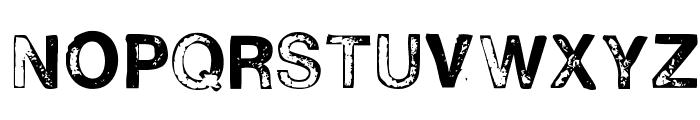 H2D2-Alevita Rough Font UPPERCASE