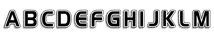H4 Vintage Retro Regular Font UPPERCASE