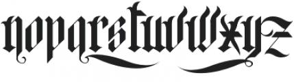 H74 Black Plague otf (900) Font UPPERCASE