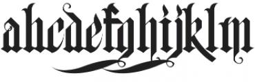 H74 Black Plague otf (900) Font LOWERCASE