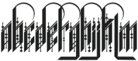 H74 Forty Thieves otf (400) Font UPPERCASE