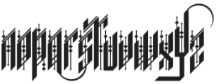 H74 Forty Thieves otf (400) Font LOWERCASE