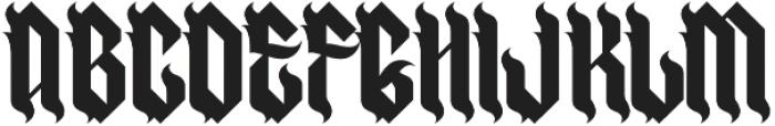 H74 Goth Bitch otf (400) Font UPPERCASE