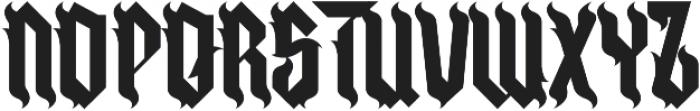 H74 Goth Bitch otf (400) Font LOWERCASE