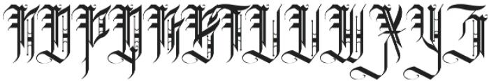 H74 Grim Reaper otf (400) Font UPPERCASE
