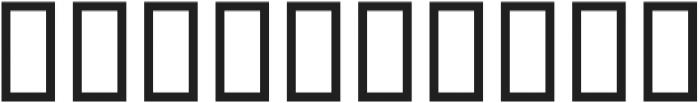 H74 One Percent otf (400) Font OTHER CHARS