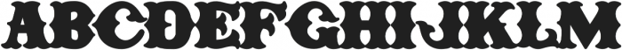 H74 One Percent otf (400) Font UPPERCASE
