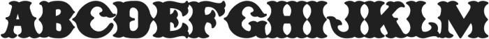 H74 One Percent otf (400) Font LOWERCASE