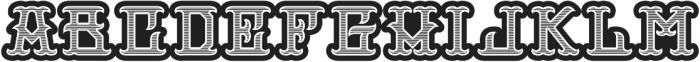 H74 Outlaw Extrabold otf (700) Font UPPERCASE