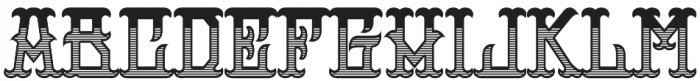 H74 Outlaw otf (400) Font UPPERCASE